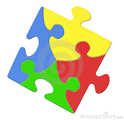 Multicolored Puzzle Piece Symbolizing Autism Awareness