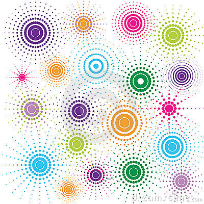 Multicolored retro circles