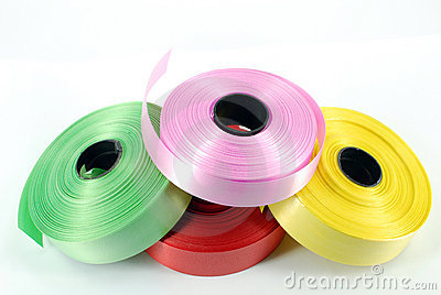Multicolored ribbons