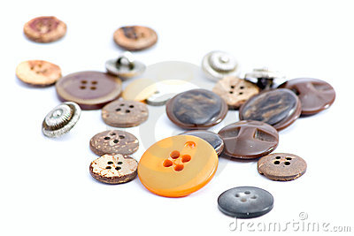 Multicolored sewing buttons