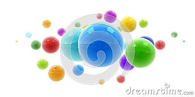 Multicolored shinny spheres