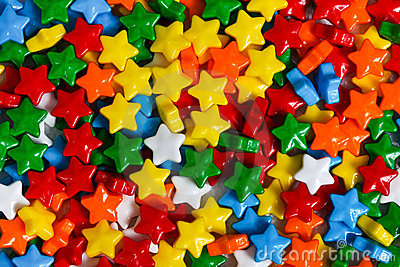 Multicolored stars candy background