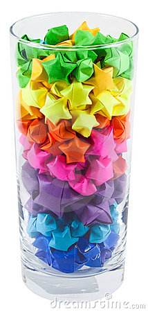 Free Multicolored Stars In A Glass Stock Photos - 17408133