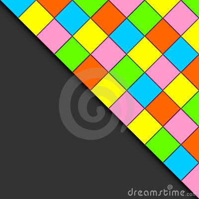 Multicolored tiles.