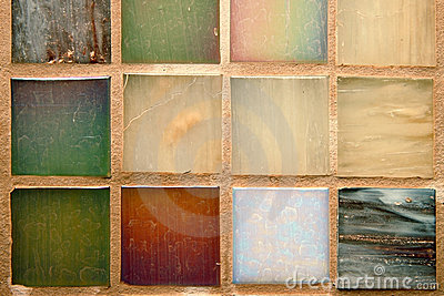 Multicolored tiles background
