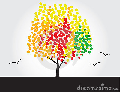 Multicolored tree