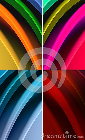 Multicolored waves abstract background