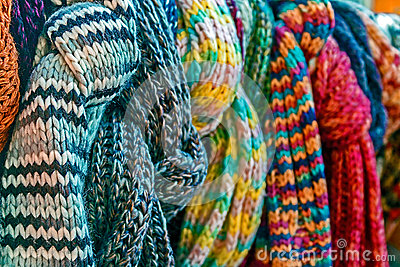 Multicolored wool Neckwear