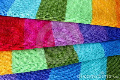 Multicolored wool scarf