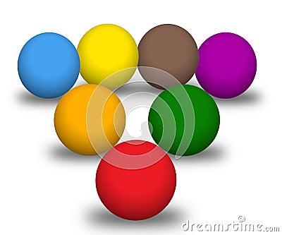 Multicolour balls