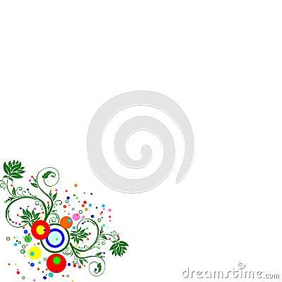 Multicolour floral background
