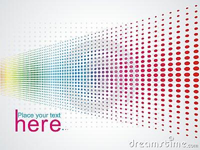 Multicolour halftone background
