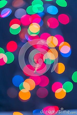Multicolour lights on Blue Background