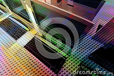 Multicolour network background