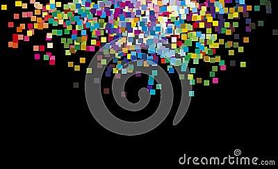 multicolour rainbow squares