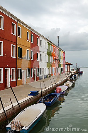 Multicoloured building in Burano.