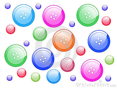 Multicoloured buttons