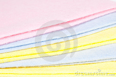 Multicoloured cleaning rags