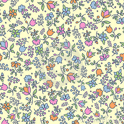 Multicoloured floral seamless pattern