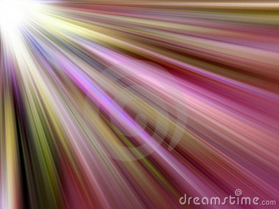 Multicoloured Light Rays