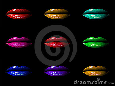 Multicoloured Lippen