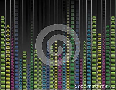 Multicoloured neon background