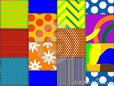 Multicoloured rags