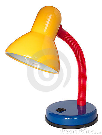 Free Multicoloured Reading Lamp On White Background Royalty Free Stock Photo - 19073695