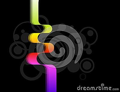 Multicoloured ribbon