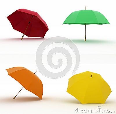 Multicoloured umbrellas