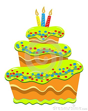 Multilayer Cake with Candles