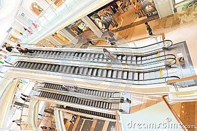 Multilevel shopping center Editorial Photo