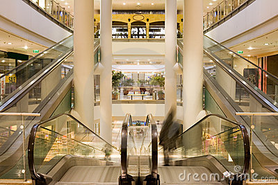 Multilevel shopping mall