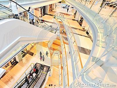 Multilevel shopping plaza Editorial Stock Image