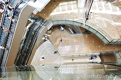 Multilevel shoppingmall Editorial Photography
