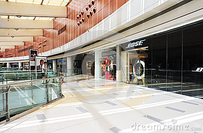 Multilevel shoppingmall interior Editorial Stock Photo