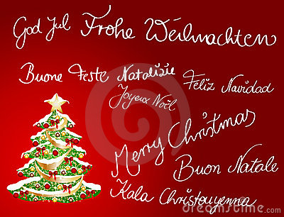 Multilingual Christmascard