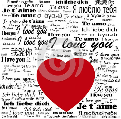 "Multilingual ""I Love You"" Poster Stock Image - Image: 36644781"
