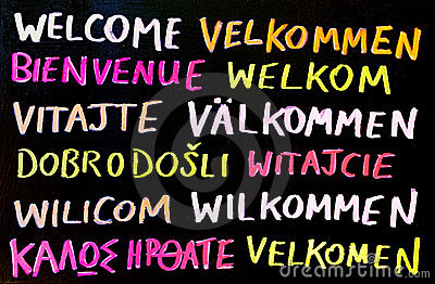 Multilingual Welcome Sign