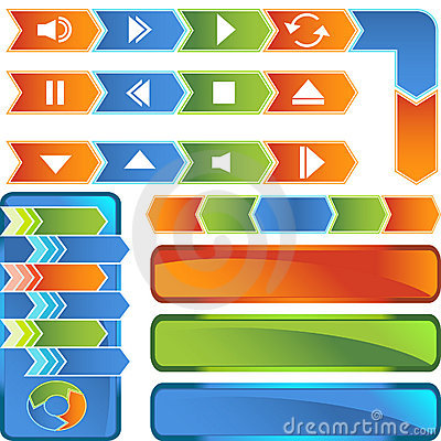 Multimedia Buttons - Arrow Style