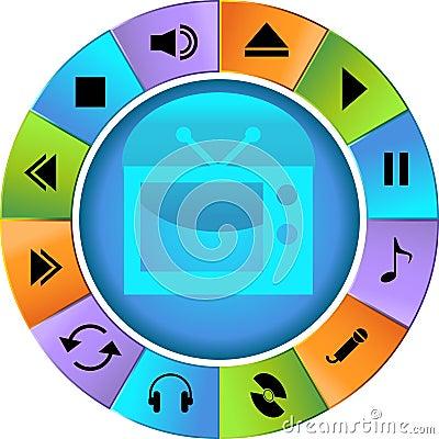 Multimedia Buttons - Wheel