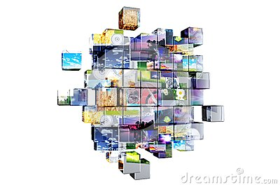 Multimedia Cubes Isolated