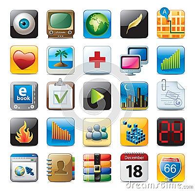 Free Multimedia Icon Set Stock Photography - 14293422
