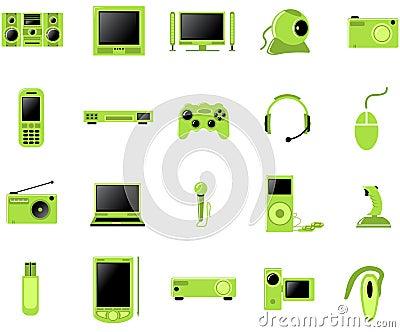 Multimedia icon set
