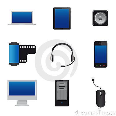 Free Multimedia Icons Royalty Free Stock Images - 19830789