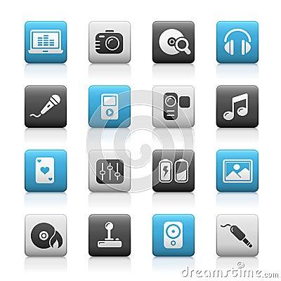 Free Multimedia // Matte Icons Series Stock Image - 13257881