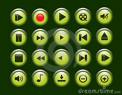 Multimedia Player Icons set