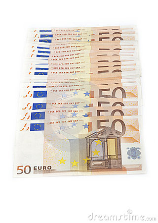 Multiple 50 euro notes