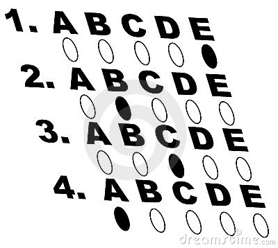Free Multiple Choice Test Royalty Free Stock Images - 4646679