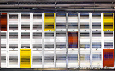 Multiple colors shutters